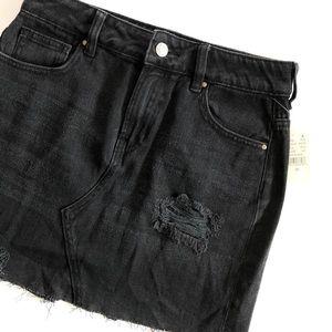 NWT Pacsun Black Destroyed mini skirt